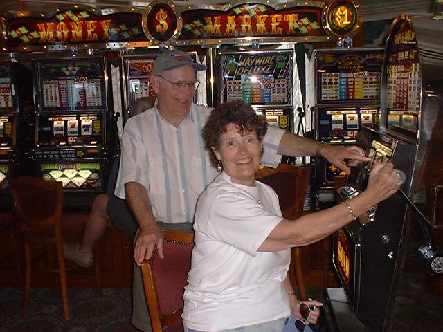 Grangers play the slots.